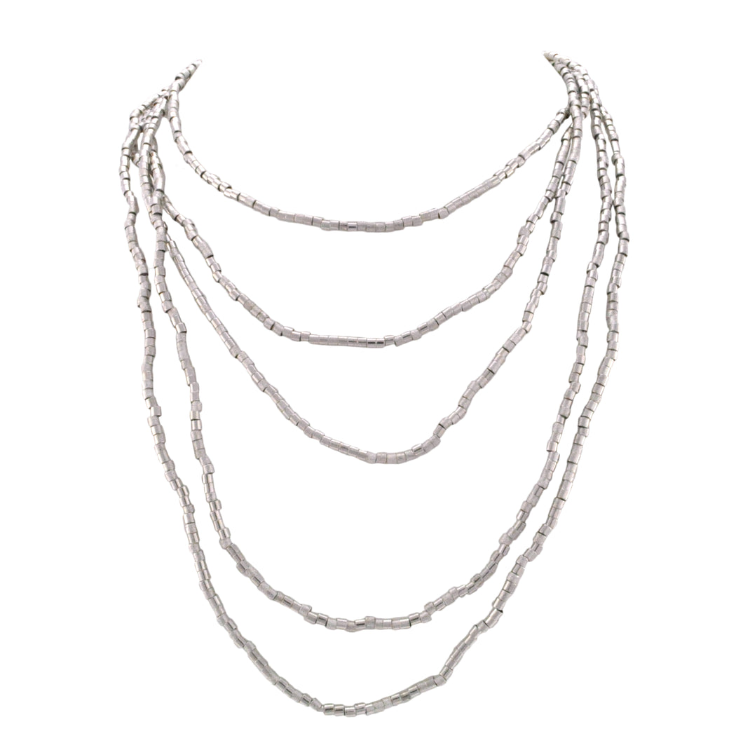 SN352R Rhodium Plated Necklace