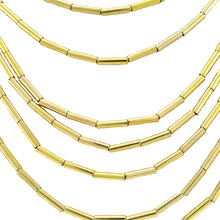 Load image into Gallery viewer, SN355 Necklace with 18k Gold Plated Tubes