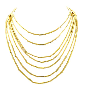 SN355 Necklace with 18k Gold Plated Tubes