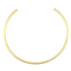 SN382B Gold Plated Brushed Choker