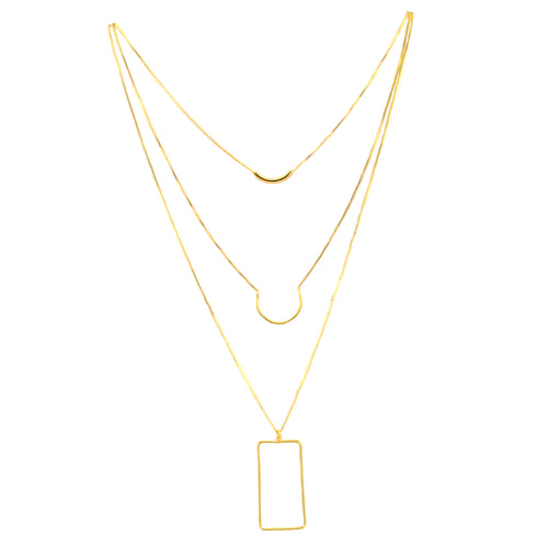 SN385 18k Gold Plated Necklace