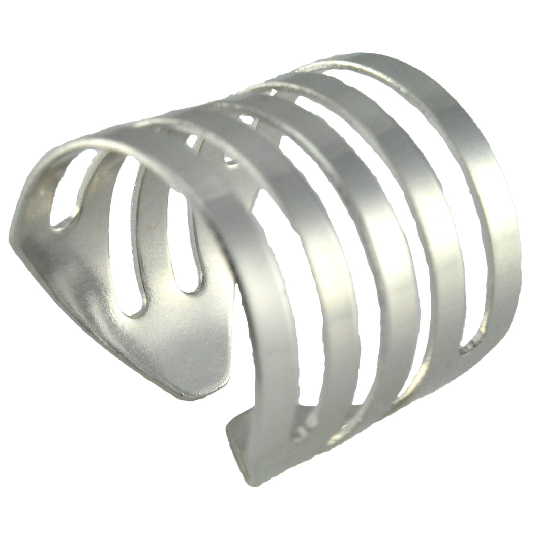 SR097R Rhodium Plated Ring