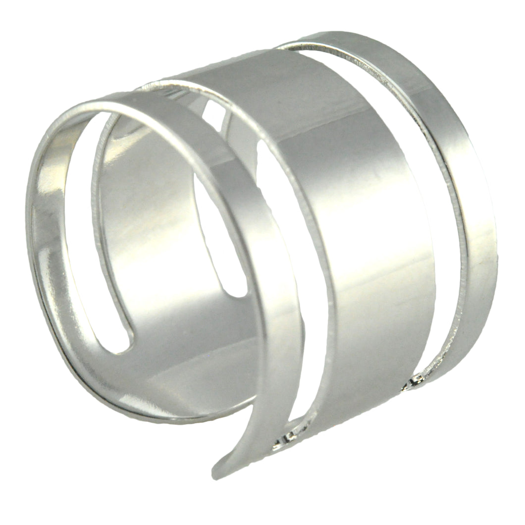 SR098R Rhodium Plated Ring