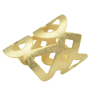 SR105 18k Gold Plated Ring