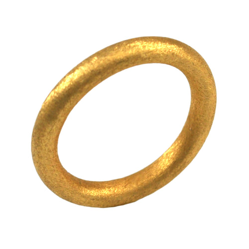 SR106B 18k Gold Plated Tubular Ring Brushed Finish