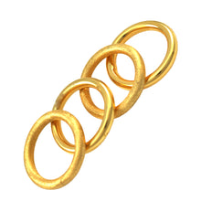 Load image into Gallery viewer, SR106A 18k Gold Plated Tubular Ring Bright Finish