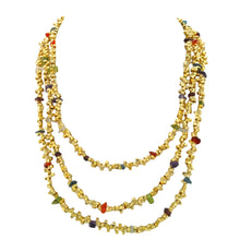 Load image into Gallery viewer, SN251 18k Gold Plated Necklace with Mixed Semiprecious Stones