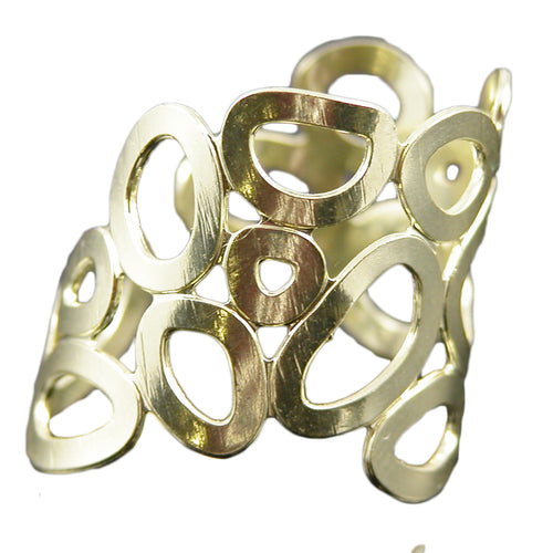 SR020 18k Gold Plated Bubble ring