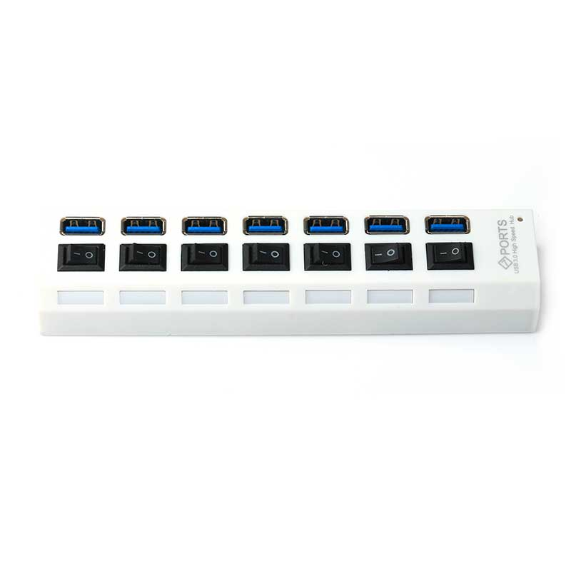 USB 3.0 Hub 7 Port High Super Speed Adapter
