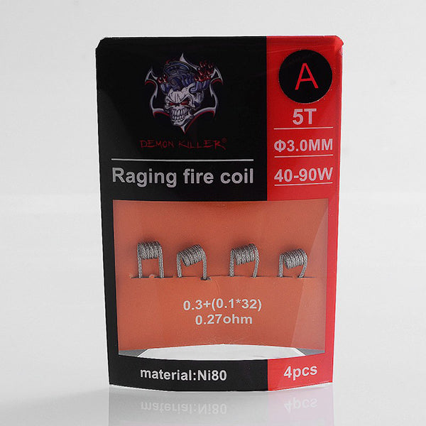 Demon Killer Raging Fire Coil Ni80 Pre-made Heating Wire - 4PCS/PACK