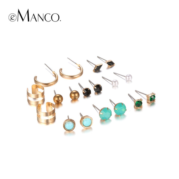 Collection of Trendy Multi Colored Stud Earrings