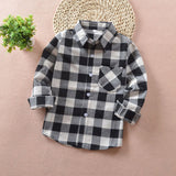 Plaid Long Sleeve Shirs - England School Trend