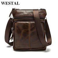 Cowhide Men Messenger Bag