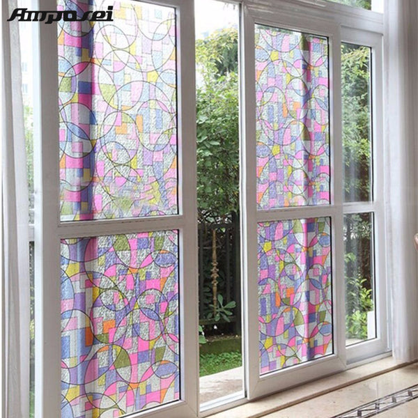 45x200cm Privacy Textured Anti UV Sticker Film for Glass Window