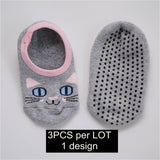 3pcs/lot Unisex Kids/Toddler Slip-Resistant Short Socks 4-12T