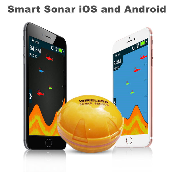 Wireless/Bluetooth Smart Fish Finder for iOS and Android 50M/130ft