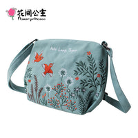 Floral Cross-body Bag for Women/Teenage