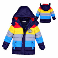 Autumn Winter Boys Chic Hooded Jacket 4-12 Years