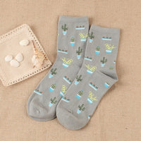 Ladies Garden Print Cotton Socks