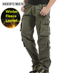 Fleece Layered Men's Cargo Pants