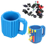 Creative Build-On Brick Lego Type Mug