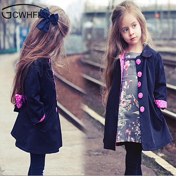 Bowknot Long Sleeve Jacket for Girls 2-14 Year