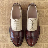 Women Genuine Leather Oxford Dress Shoes