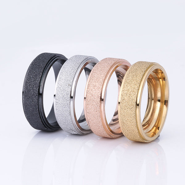 Titanium Steel Frosted Ring for Men & Women