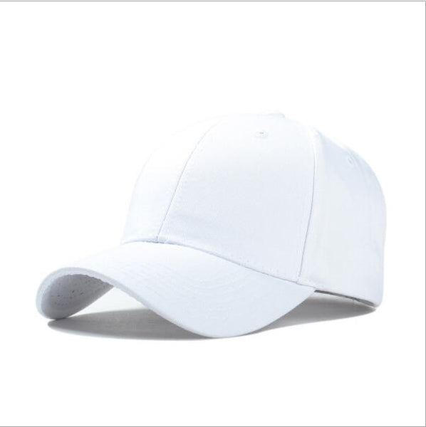 Durable Adjustable Snapback Baseball Caps - Solid Color