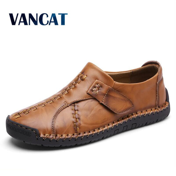 Handmade Comfortable Quality Split Leather Men Moccasins