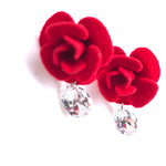 Zircon/Plush Small Red Hypoallergenic Stud Earrings