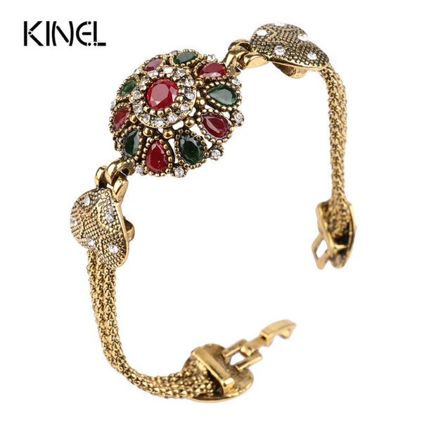 Kinel Turkey Bracelet with Tibetan Stones