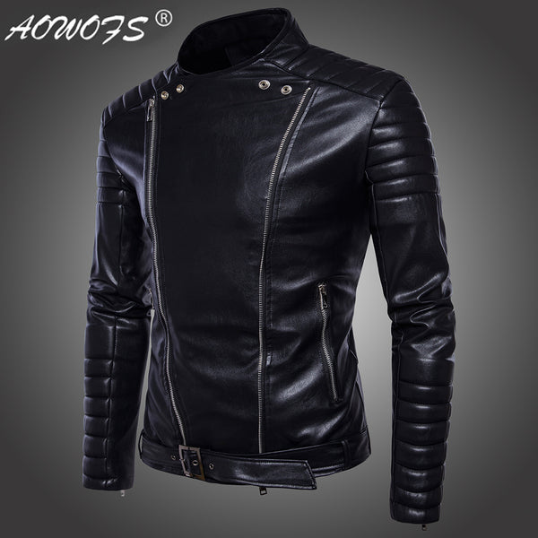Men's Motorcycle PU Leather Jacket (Fast Selling)