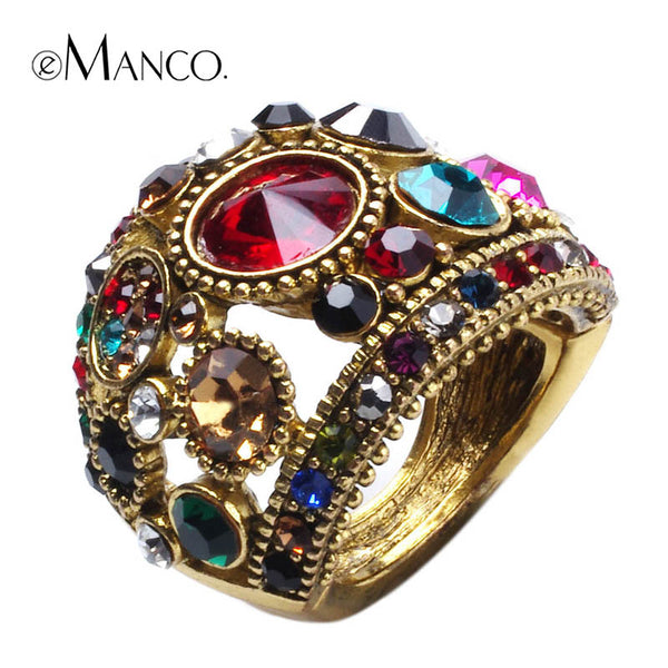 Colourful Rhinestone Ring