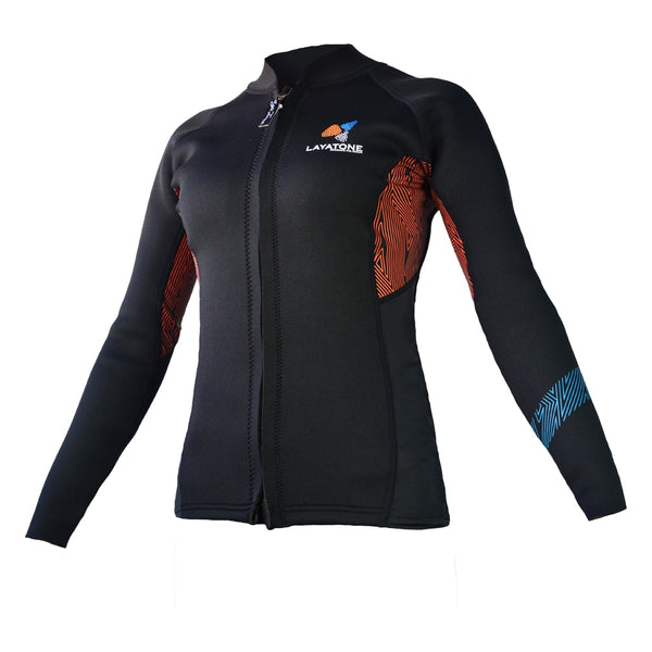 Long Sleeve Keep Warm 3mm Lycra Swimming/Diving Jacket for Women