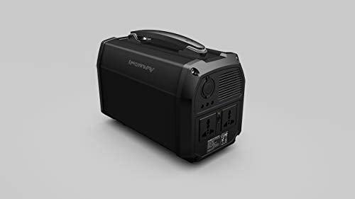 iFORWAY Portable Power Station Mega Storage with 462Wh and Built-in Bluetooth Speaker - QC3.0 Power Supply - 2 110V Plug Outlets, 300W, 3 USB + 1 USB-C Ports, LED Flashlight (Solar Panel Not Include)