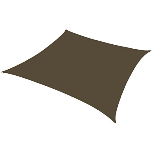 Sunshades Depot 16' x 20' Brown Sun Shade Sail 180 GSM with 8 Inch Hardware Kit - Rectangle UV Block Durable Fabric Outdoor Canopy - Custom Size Available