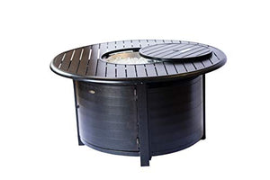 2nd Shade Wayzata Aluminum Propane Fire Pit Round Fire Table Patio Outdoor