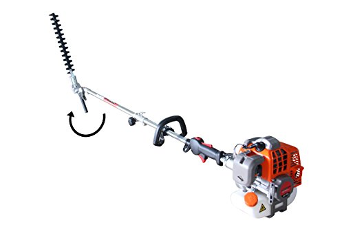 PROYAMA 42.7CC Multi Function 5 in 1 Pole Hedge Trimmer, Trimmer, Brush Cutter, Pole Chainsaw Pruner & 1M Extension Pole