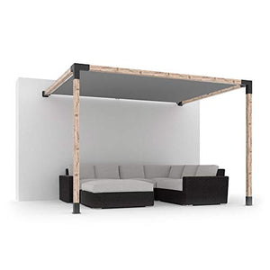 TOJA GRID SS21010GR13 System (Off The Wall) for 4x4 Wood Posts Modular Pergola, Black
