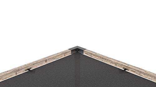 TOJA GRID DS1220GR13 Double System (Off The Wall) for 4x4 Wood Posts  Modular Pergola, Black