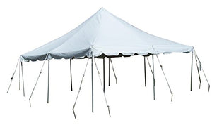 30-Foot by 30-Foot White Pole Tent, Commercial Canopy Heavy Duty 16-Ounce Vinyl for Parties, Weddings, and Events