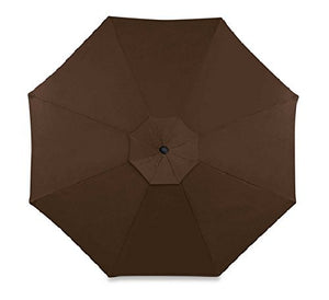 11 foot Round Solar Cantilever Umbrella With 360º Rotation Vented Canopy An Umbrella Cover And 24 LED Lights It Also Includes The Base (Dark Brown Chocolate)