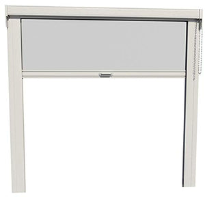"Disappearing, Retractable Screen for Garage, Porch, Patio, Lanai, Gazebo, Large Windows (up to 192""W x up to 96""H; White)"