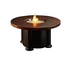 Fire Pit Table with Round Acid Wash Top