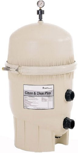 Pentair 160332 Clean & Clear Plus Fiberglass Reinforced Polypropylene Tank Cartridge Pool Filter, 520 Square Feet, 150 GPM (Residential)