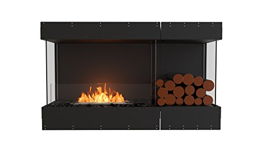 EcoSmart Fire ESF.FX.50BY.BXR Flex Fireboxes Insert, Bay, Black
