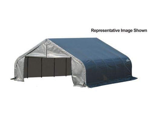 18x28x11 Peak Style Shelter with Gray Cover