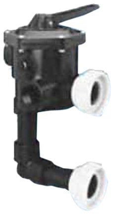 Pentair 18201-0200H ABS 6-Position Union Connection Design Slide Multiport Valve, 2-Inch Port Size