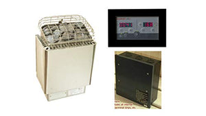 Amerec Sauna Vicki 8 KW Sauna Heater with Rocks and Saunalogic Control Included for Rooms from 250-425 cu.ft